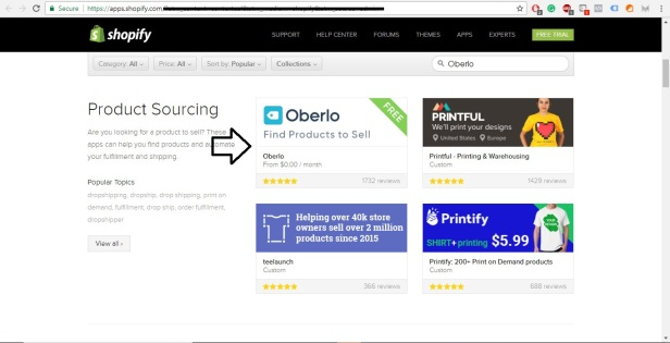 Shopify App Store Download Oberlo