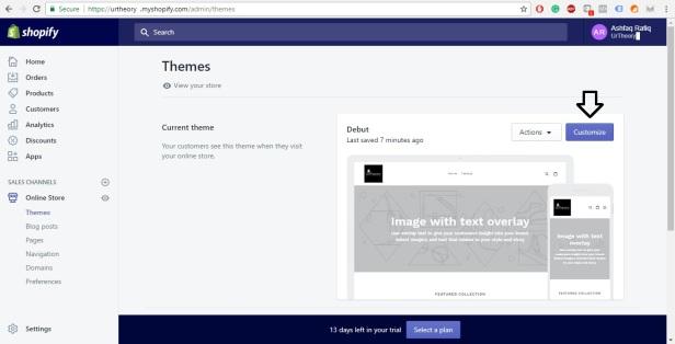 Shopify Store Development Theme Customization